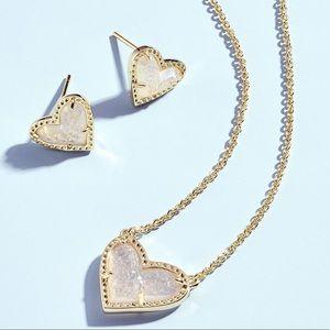 Kendra Scott Ari Heart Necklace Earring Dichroic